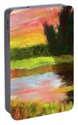 River Sunset Portable Battery Charger
