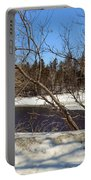 River Through The Branches Portable Battery Charger