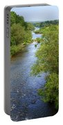 River Wye From Hay-on-wye Bridge Portable Battery Charger