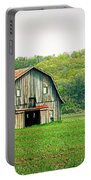 Riverbottom Barn In Spring Portable Battery Charger