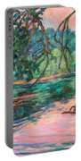 Riverview At Dusk Portable Battery Charger