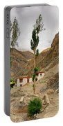 Rizong Monastery With View Of Himalayan Mountians Leh Ladakh Jammu And Kashmir India Portable Battery Charger