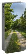 Road In Woods 1 F Portable Battery Charger