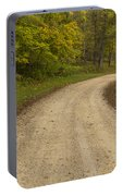 Road In Woods Autumn 3 B Portable Battery Charger