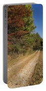 Road In Woods Autumn 5 Portable Battery Charger