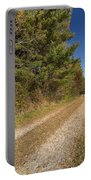 Road In Woods Autumn 6 Portable Battery Charger