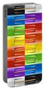 Road Runner Rainbow Portable Battery Charger by Gordon Dean II