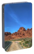 Road Through Valley Of Fire  Portable Battery Charger