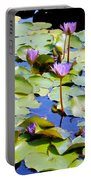 Road To Hana Water Lilies Portable Battery Charger