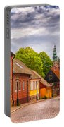 Roads Of Lund Digital Painting Portable Battery Charger