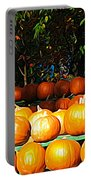 Roadside Pumpkin Stand Expressionist Effect Portable Battery Charger
