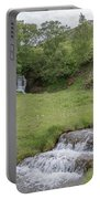 Roadside Waterfall 0992 Portable Battery Charger