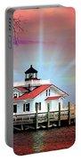 Roanoke Marshes Lighthouse, Manteo, North Carolina Portable Battery Charger