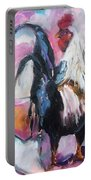 Roanoke Rooster Painting Portable Battery Charger