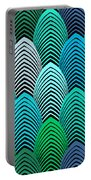 Roaring 20's Turquoise Portable Battery Charger