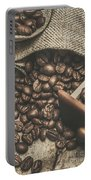 Roasted Coffee Beans In Close-up  Portable Battery Charger