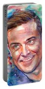 Robbie Williams Portrait Portable Battery Charger