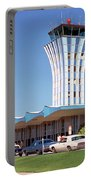 Robert Mueller Municipal Airport And Control Tower, Austin, Texas Portable Battery Charger