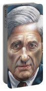 Robert Mueller Portrait , Head Of The Special Counsel Investigation Portable Battery Charger