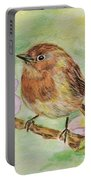 Robin In Flowers Portable Battery Charger