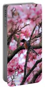 Robin In Magnolia Tree Portable Battery Charger