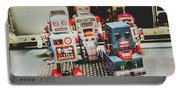Robots Of Retro Cool Portable Battery Charger
