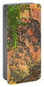 Rock And Shrub Abstract I  Portable Battery Charger