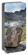 Rock At Abyss Lake Portable Battery Charger
