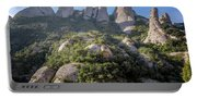 Rock Formations Montserrat Spain Portable Battery Charger