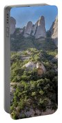 Rock Formations Montserrat Spain Portable Battery Charger