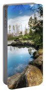 Rock Lined Pond Portable Battery Charger