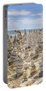 Rock Structures On Lake Michigan Portable Battery Charger