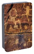 Rock Wall Of Petroglyphs Portable Battery Charger