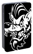 Rockabilly Wolf Head Portable Battery Charger