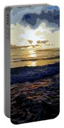 Rockaway Sunset #3 Enhanced #2 Portable Battery Charger