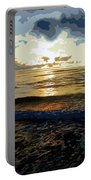 Rockaway Sunset #4 Enhanced #2 Portable Battery Charger
