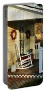 Rocking Chair On Side Porch Portable Battery Charger