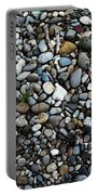 Rocks And Sticks On The Beach Portable Battery Charger