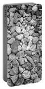 Rocks From Beaches In Black And White Portable Battery Charger