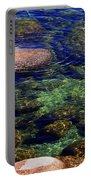 Rocks Ripples And Reflections Portable Battery Charger