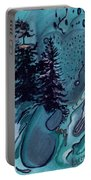 Rocksntrees Abstract Portable Battery Charger