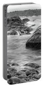 Rocky Coast Of Maine In Bw Portable Battery Charger by Doug Camara