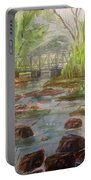 Rocky Creek In The Catskills  Portable Battery Charger