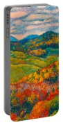 Rocky Knob In Fall Portable Battery Charger