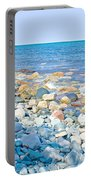 Rocky Lake Superior Shoreline Near North Country Trail In Pictured Rocks National Lakeshore-michigan Portable Battery Charger