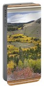 Rocky Mountain Autumn Picture Window View Portable Battery Charger