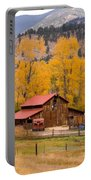 Rocky Mountain Barn Autumn View Portable Battery Charger