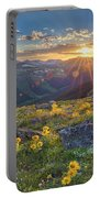 Rocky Mountain National Park Summer Sunflowers Pano 1 Portable Battery Charger