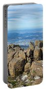 Rocky Mountain Summit Overlooking Beautiful Vally Portable Battery Charger