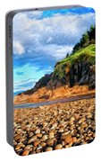 Rocky Oregon Beach Portable Battery Charger